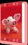 Viel Glück (Doppelkarte) - Glücksschwein